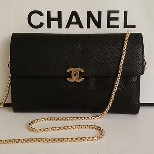 Rare! Chanel Large Back Pocket Crossbody Purse WOC